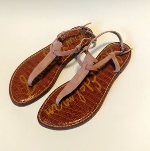Sam Edelman Gigi pink thong sandels